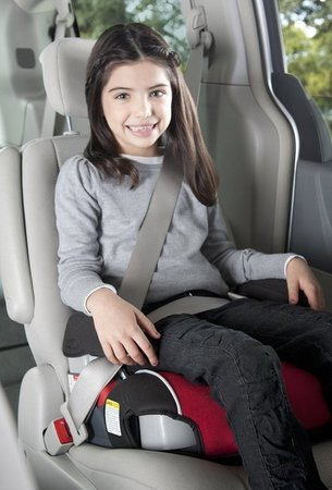 Harmony Belt Positioning Booster Car Seat Installation