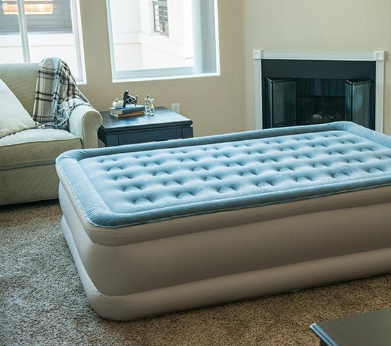full or queensize air mattresses offer the most versatility for overnight guests because they can usually accommodate up to two adults
