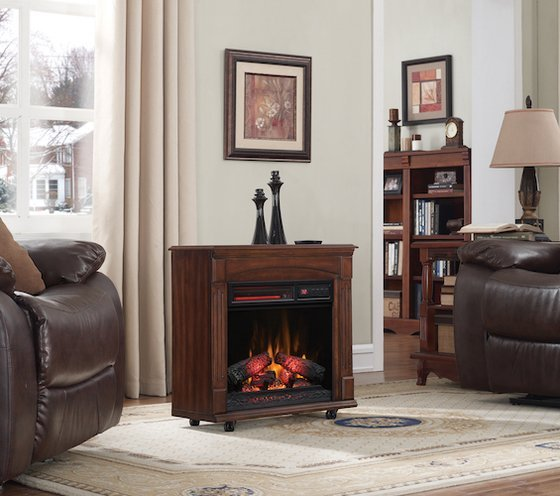 just like real fireplaces electric fireplaces come in a variety of widths and heights so choose the size that best balances your room a larger unit in a - Electric Fireplaces Clearance