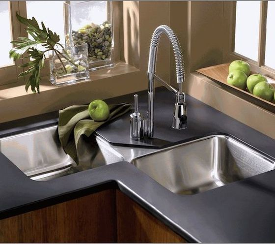 double bowl sinks for many strike the balance between a minimal single bowl option and sometimes overboard three bowl sinks - Kitchen Sinks Photos