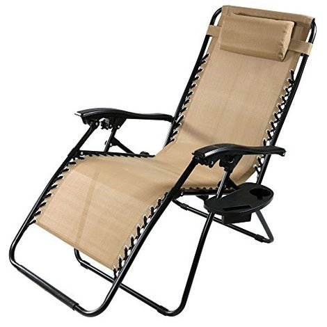 khaki oversized zero gravity lounge chair - Zero Gravity Lounge Chair