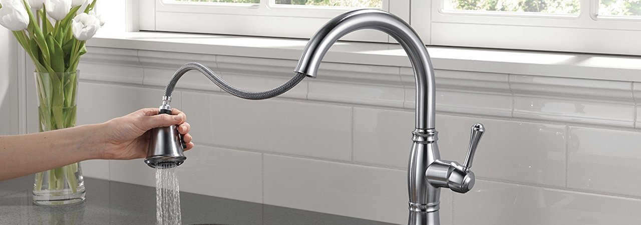 5 best pull down kitchen faucets oct 2018 bestreviews - Pull Down Kitchen Faucet