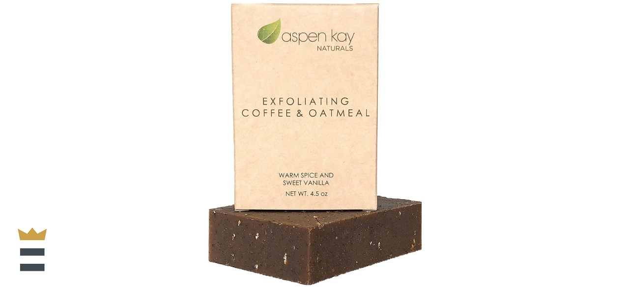 Aspen Kay Naturals Exfoliating Coffee & Oatmeal Soap