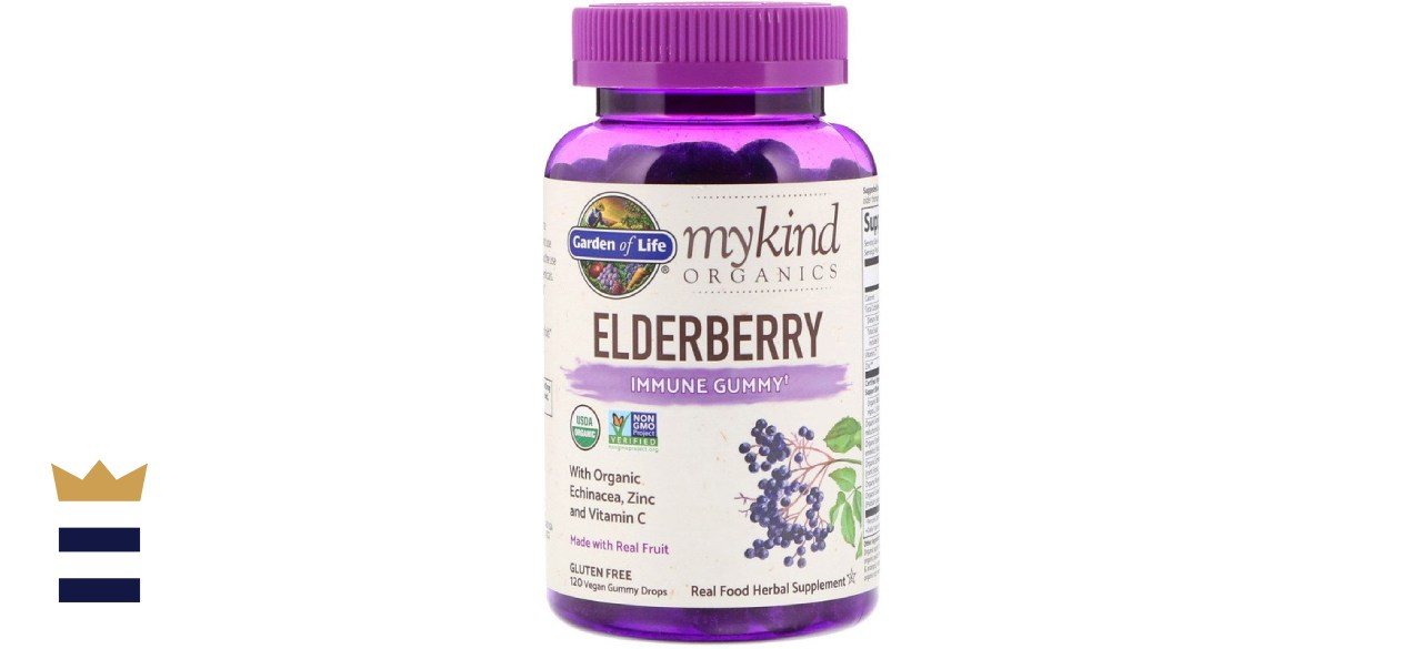 Garden of Life MyKind Organics Plant-Based Elderberry Gummy Drops