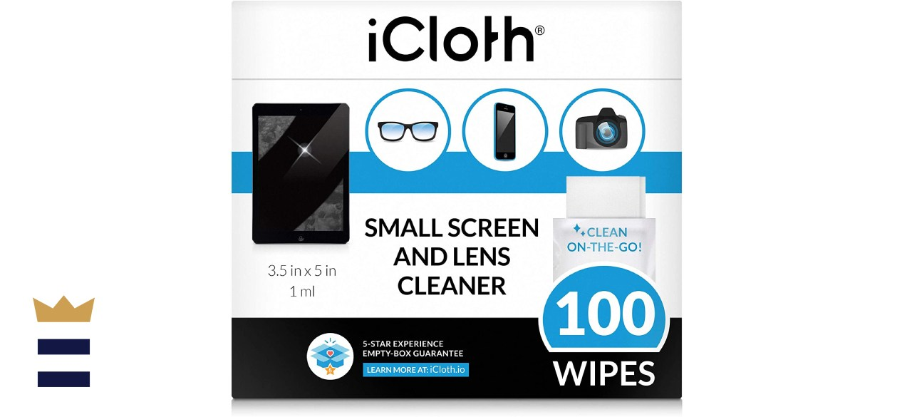 iCloth Small Screen and Lens Cleaner Wipes