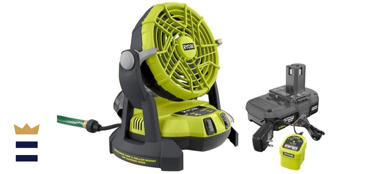 RYOBI Bucket Top Misting Fan Kit