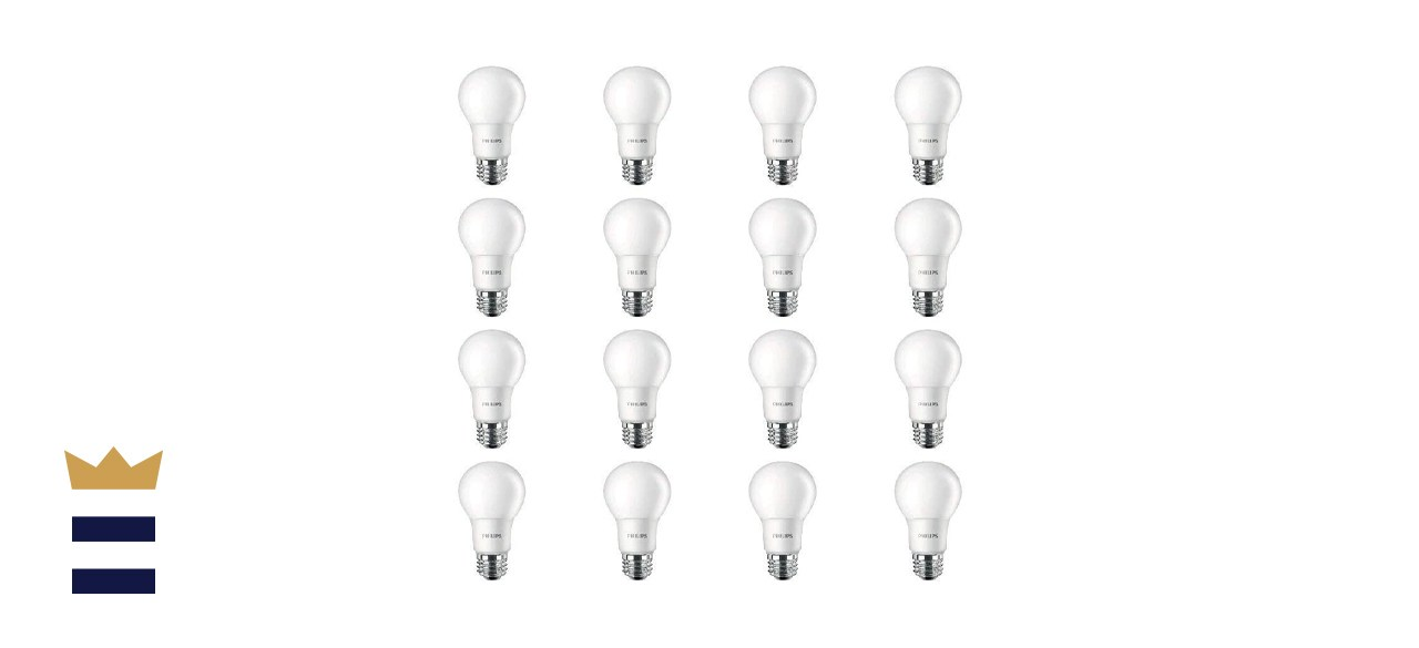 Philips 16 Pack of Frosted Non-Dimmable A19 800 Lumen LED Light Bulbs