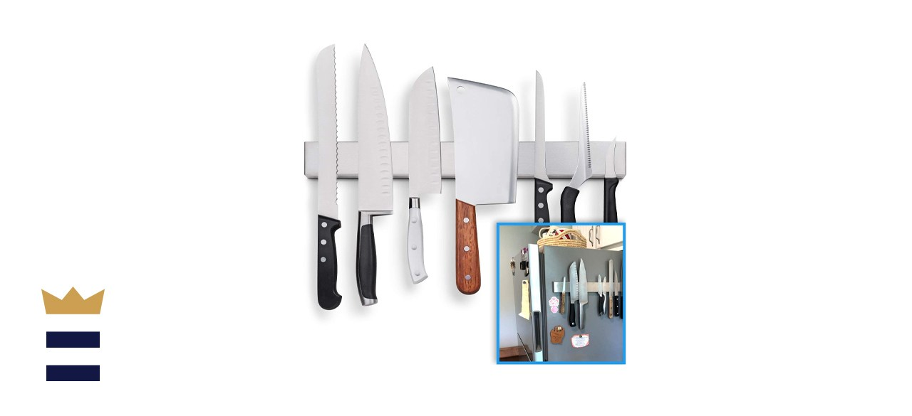 Fridge Applicable 17 Inch Stainless Steel Magnetic Knife Holder