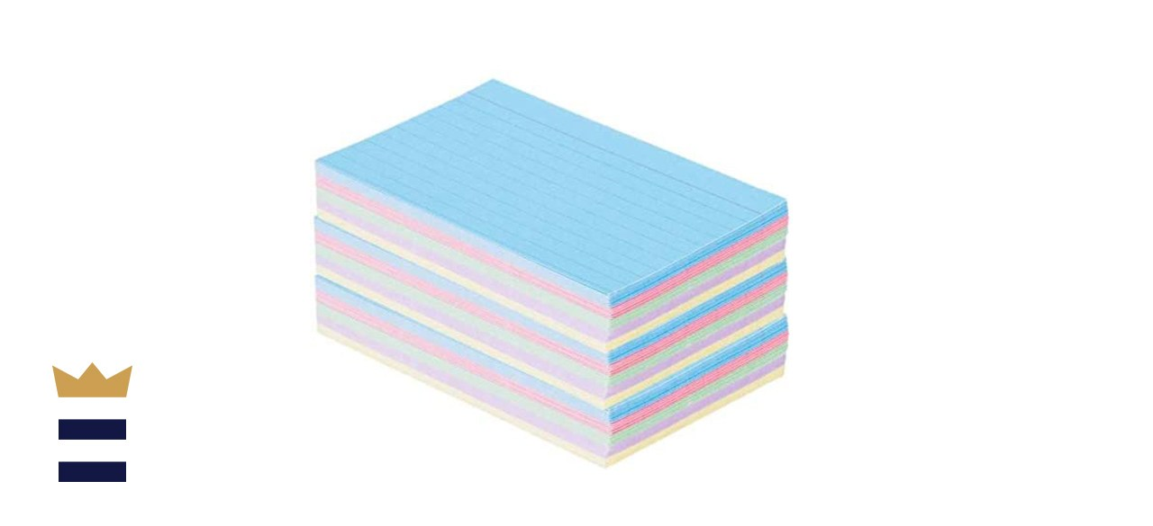 1InTheOffice 3 x 5-Inch Ruled Pastel Index Cards 300/Pack