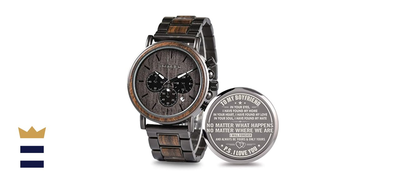 2Win Engraved Wooden Watch