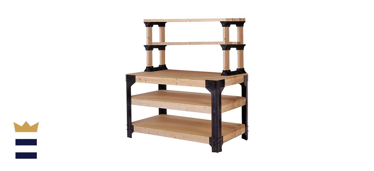 2x4basics' Workbench and Shelving Storage System