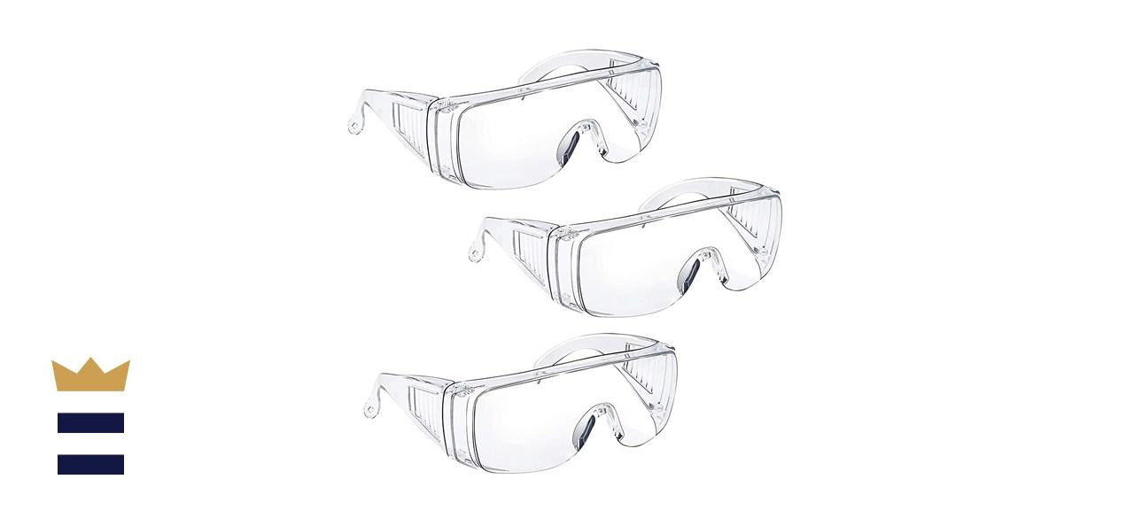 3-Pack Safety Glasses Over Eyeglasses