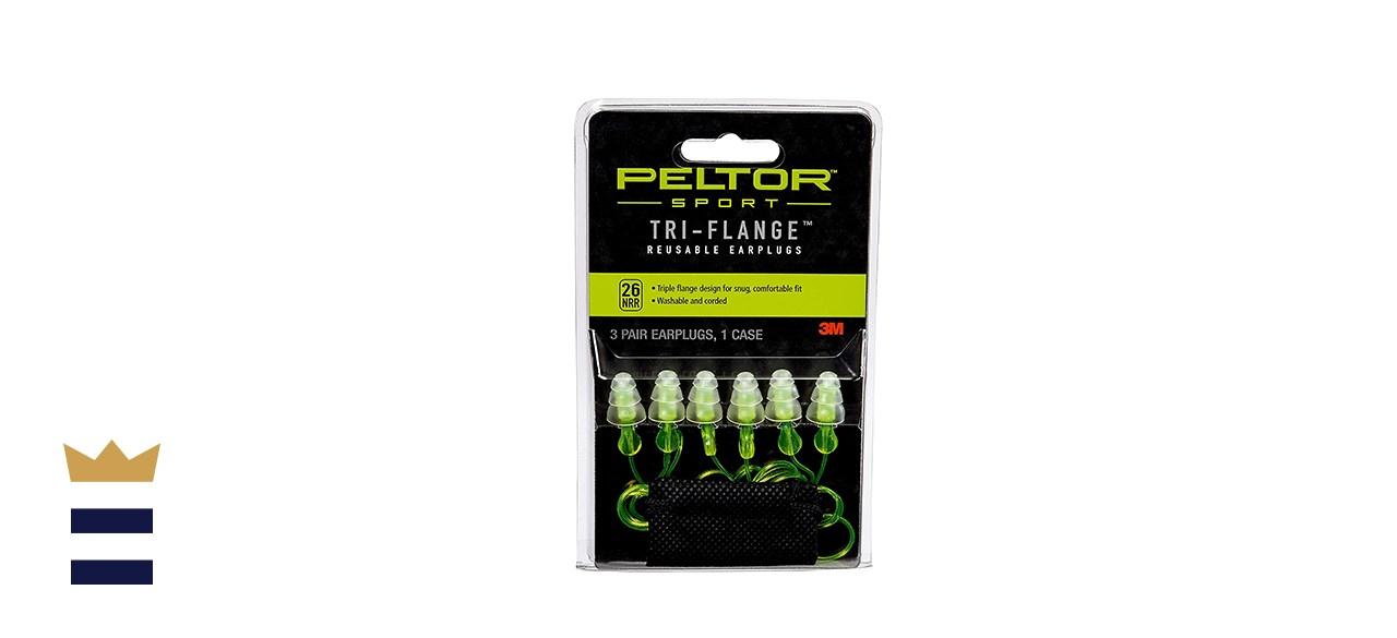 3M's Peltor Sport Tri-Flange Corded Reusable Earplugs