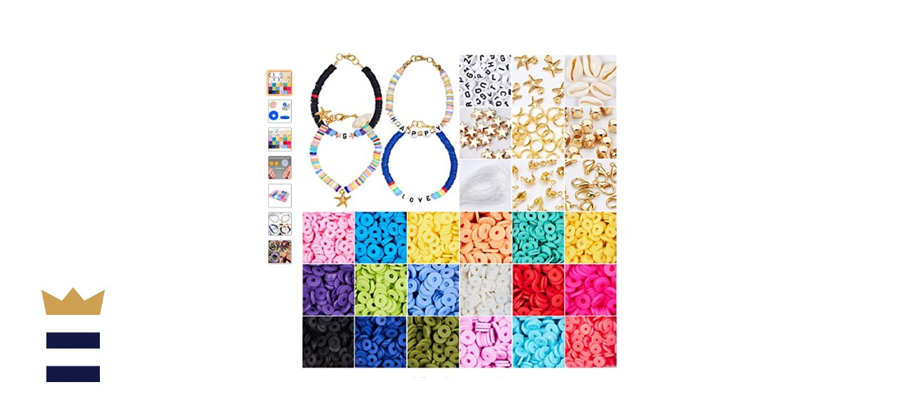 4800 Pieces Flat Round Polymer Clay Spacer Beads