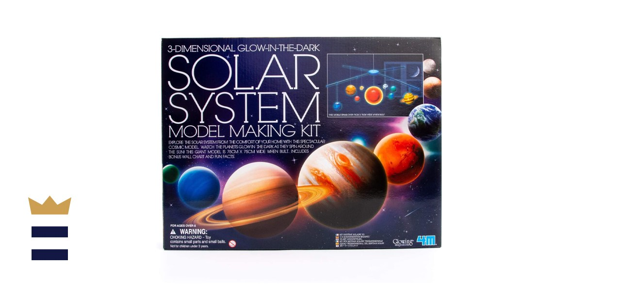 4M 3D Glow-in-the-Dark Solar System Mobile Making Kit
