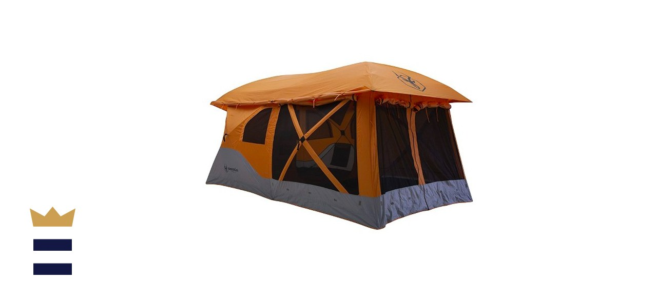 8-Person Portable Pop Up Camping Hub Tent with Screen Room