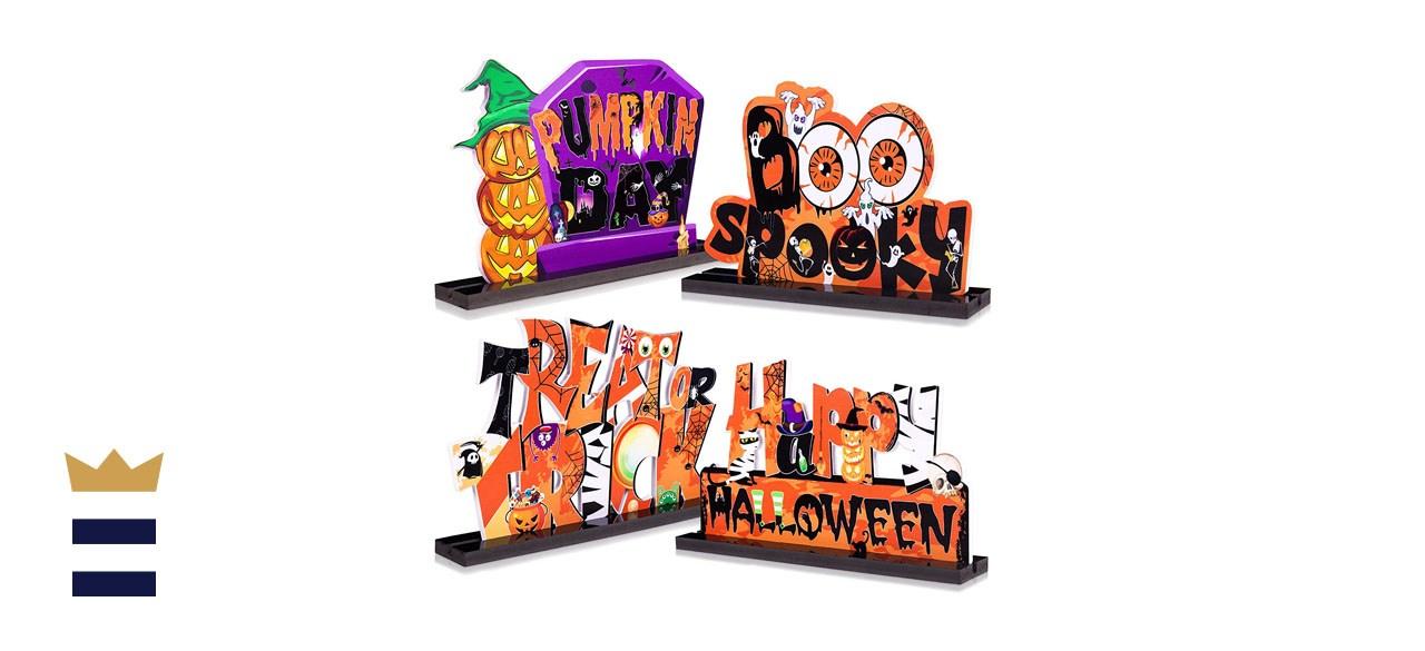 90shine 4-Piece Halloween Table Centerpiece