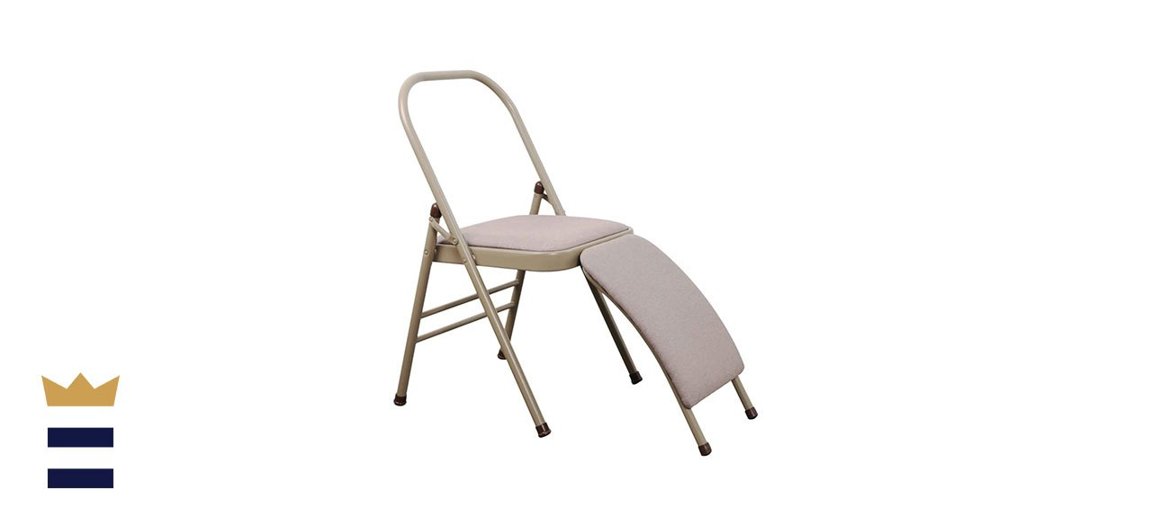 INNOLIFE Yoga Auxiliary Chair with Lumbar Back Support