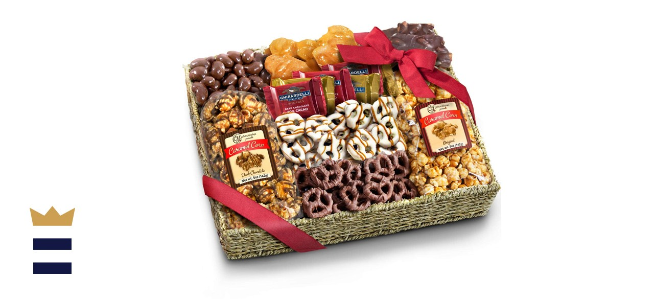 A Gift Inside Chocolate Caramel and Crunch Grand Gift Basket