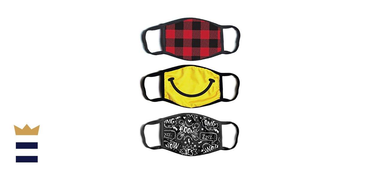 ABG Accessories' Kids' Reusable Fabric Face Masks