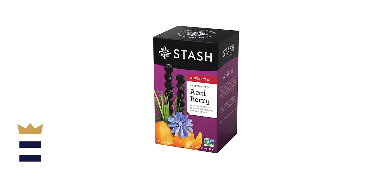 Stash Tea Acai Berry Herbal Tea 18 Count Tea Bags in Foil