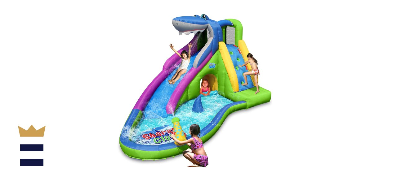 Action Air Inflatable Water Slide Shark Bounce House