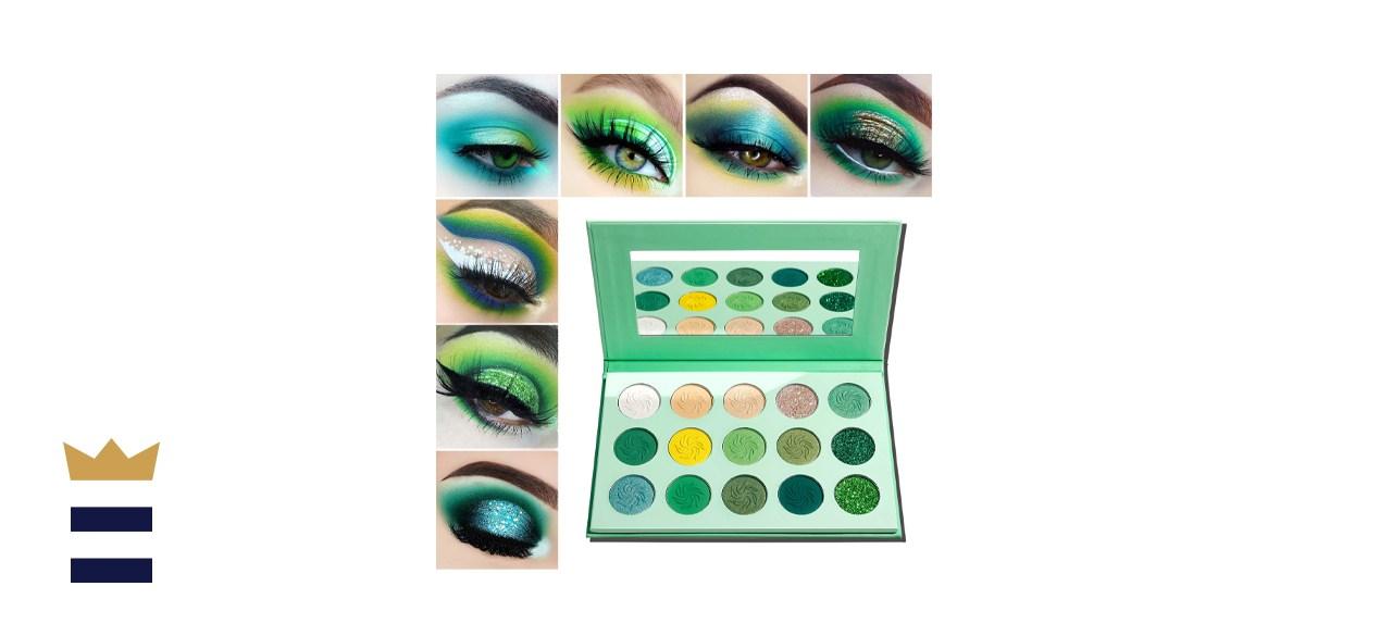 Afflano Green Eyeshadow Palette