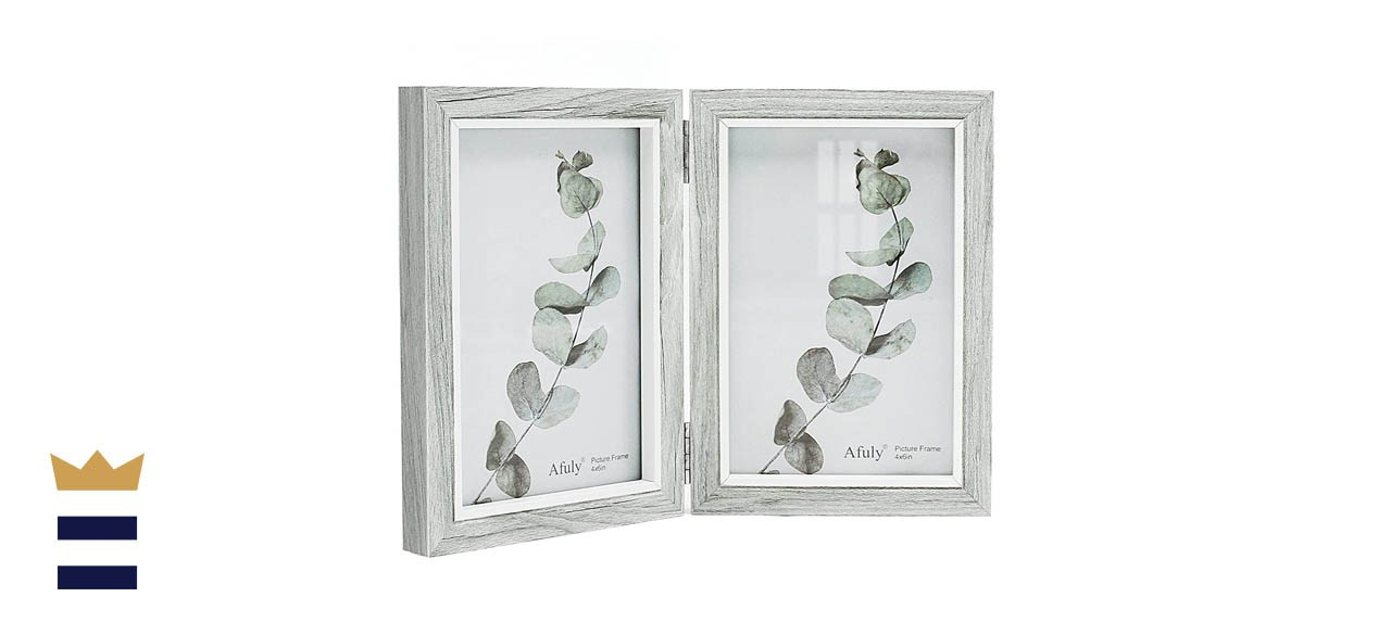Afuly Rustic Double Picture Frame (Grey)