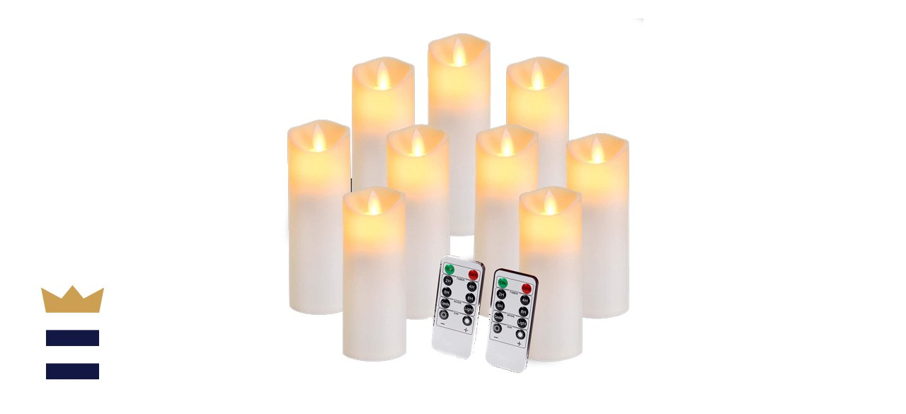Aignis Flickering Flameless Candles Set of 9