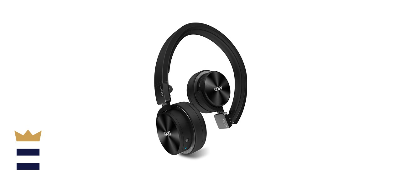 AKG Y45BT Black Mini On-Ear Wireless Bluetooth Headphones With Bypass Cable