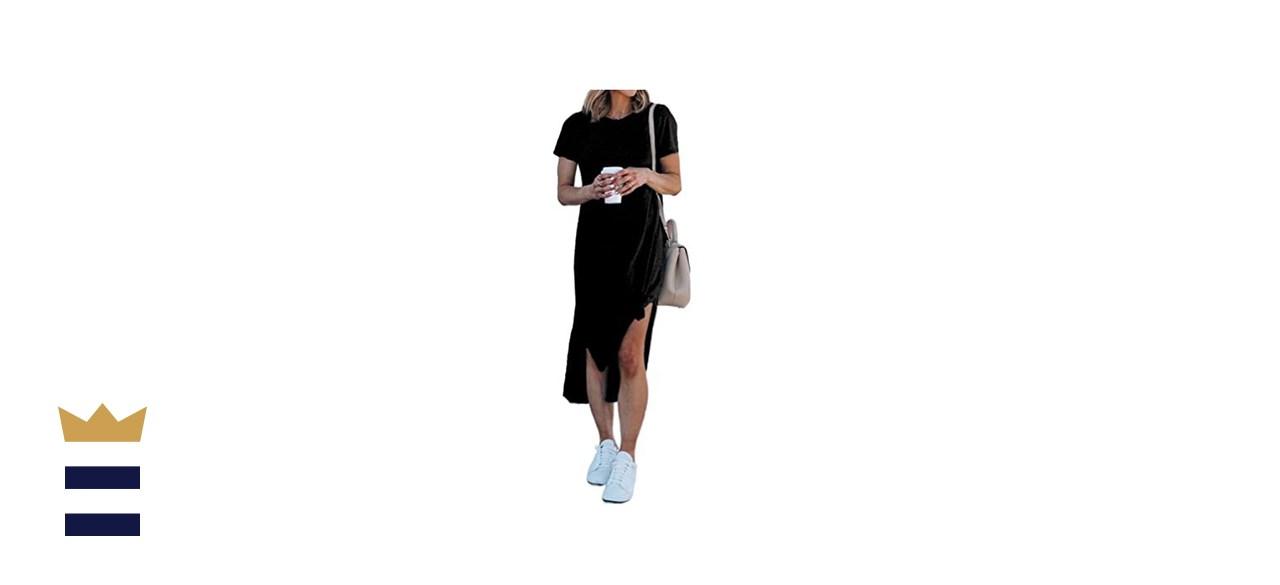 Alaster Women's Casual T-Shirt Midi Dress