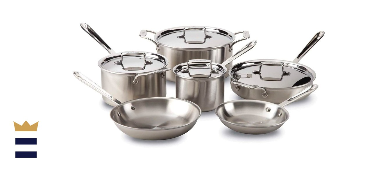 All-Clad 10-Piece Brushed D5 Stainless Cookware Set