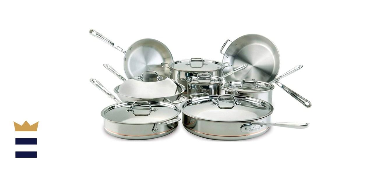 All-Clad Copper Core Cookware 14 Piece Set