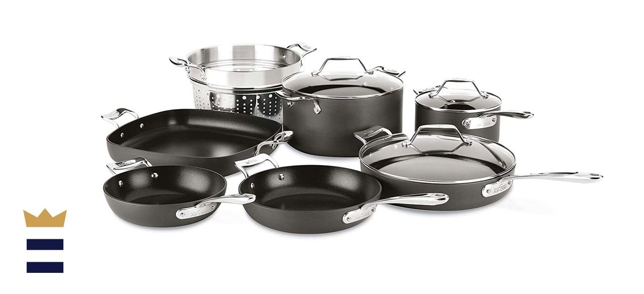 All-Clad Essentials 10-Piece Nonstick Hard Anodized Cookware Set
