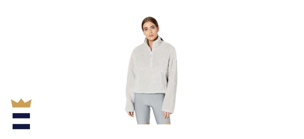 Alo Yoga Women's Shanti Half-Zip Sherpa Jacket