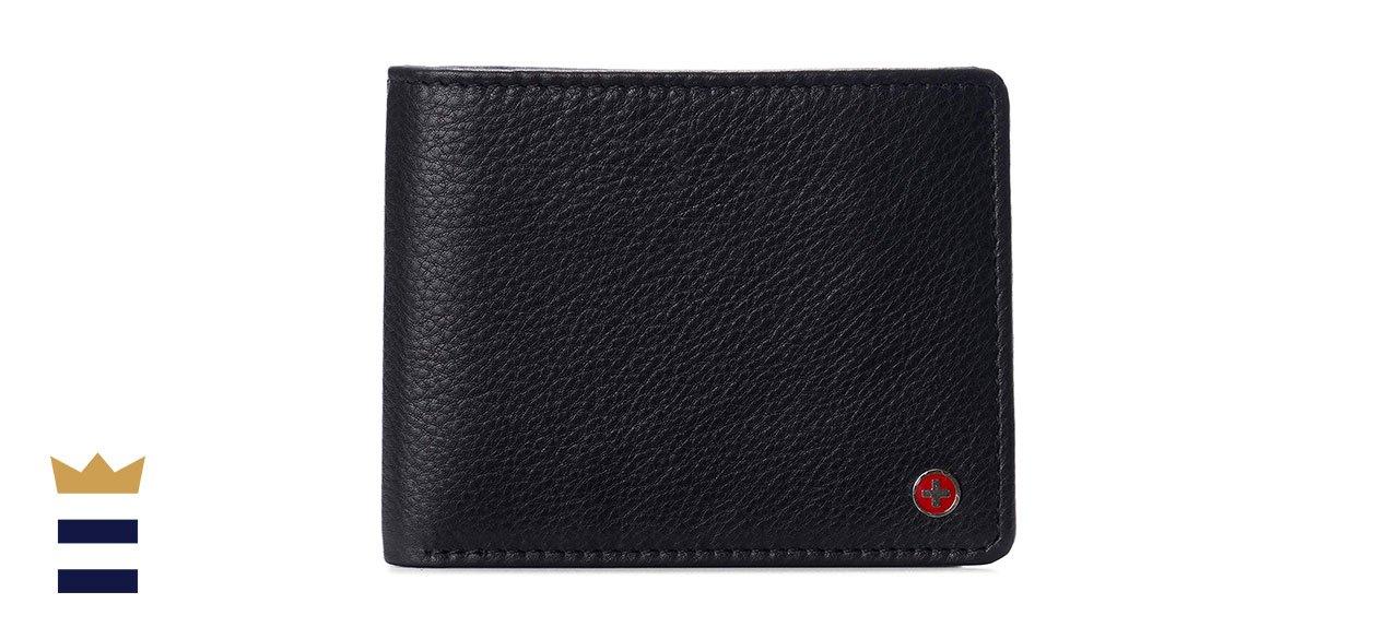 Alpine Swiss Men's Spencer Flip ID Leather Bifold Wallet