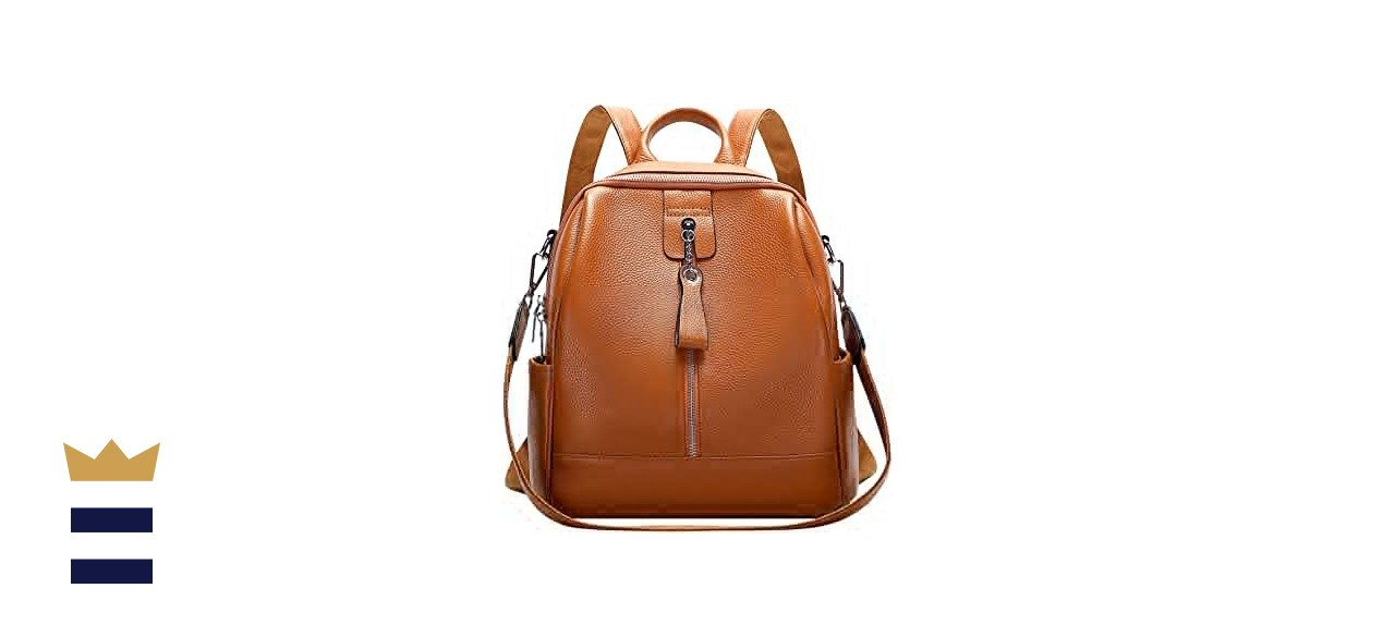 Altosy Genuine Leather Convertible Backpack