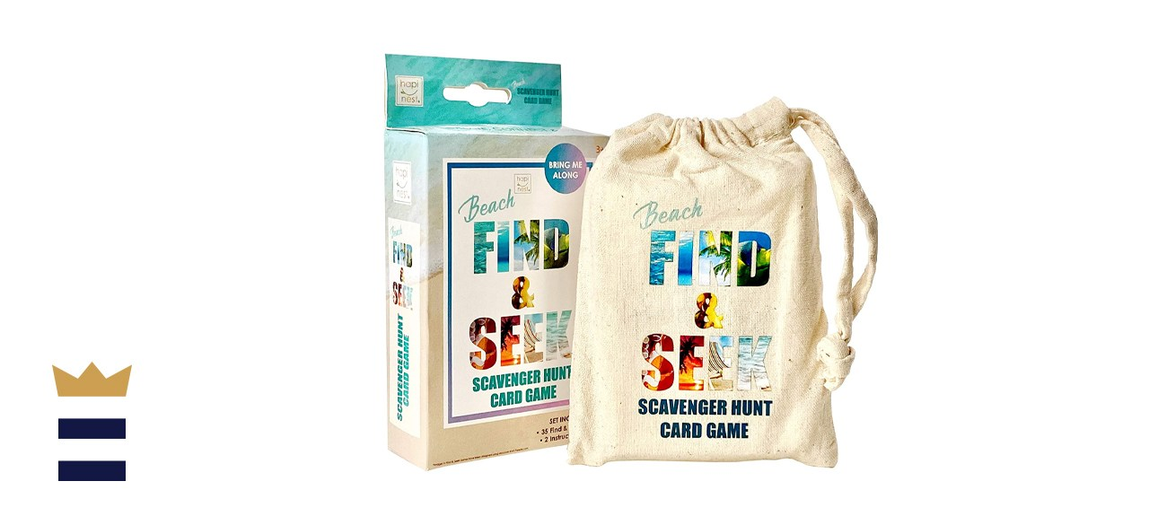Hapinest Find and Seek Scavenger Hunt Outdoor Indoor Card Game for Kids, Beach Edition
