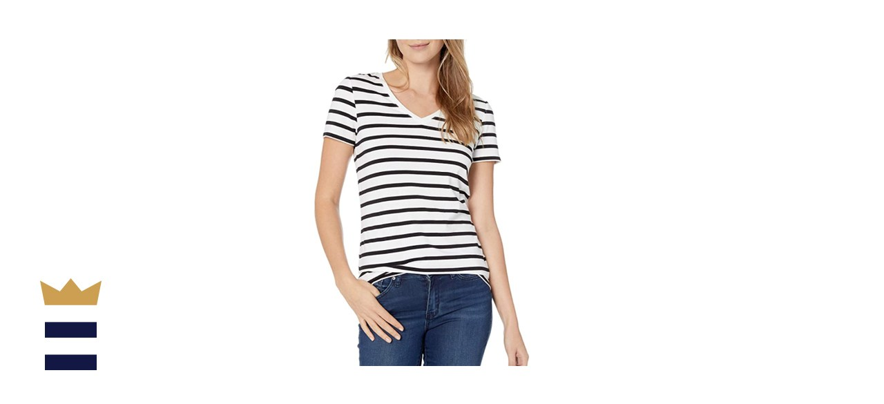 Amazon Essentials 2-Pack Classic Fitted V-Neck Tee