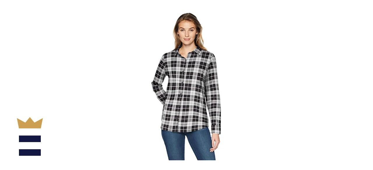Amazon's Essentials Women's Classic-Fit Lightweight Flannel Shirt