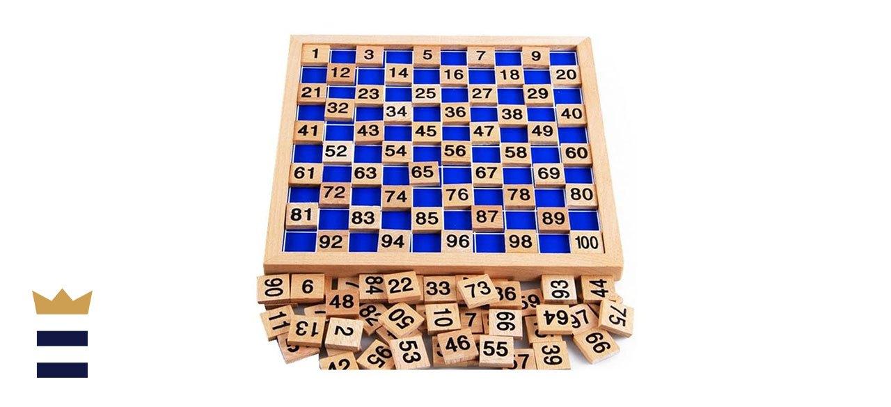 Amberetech's Montessori Hundred Board