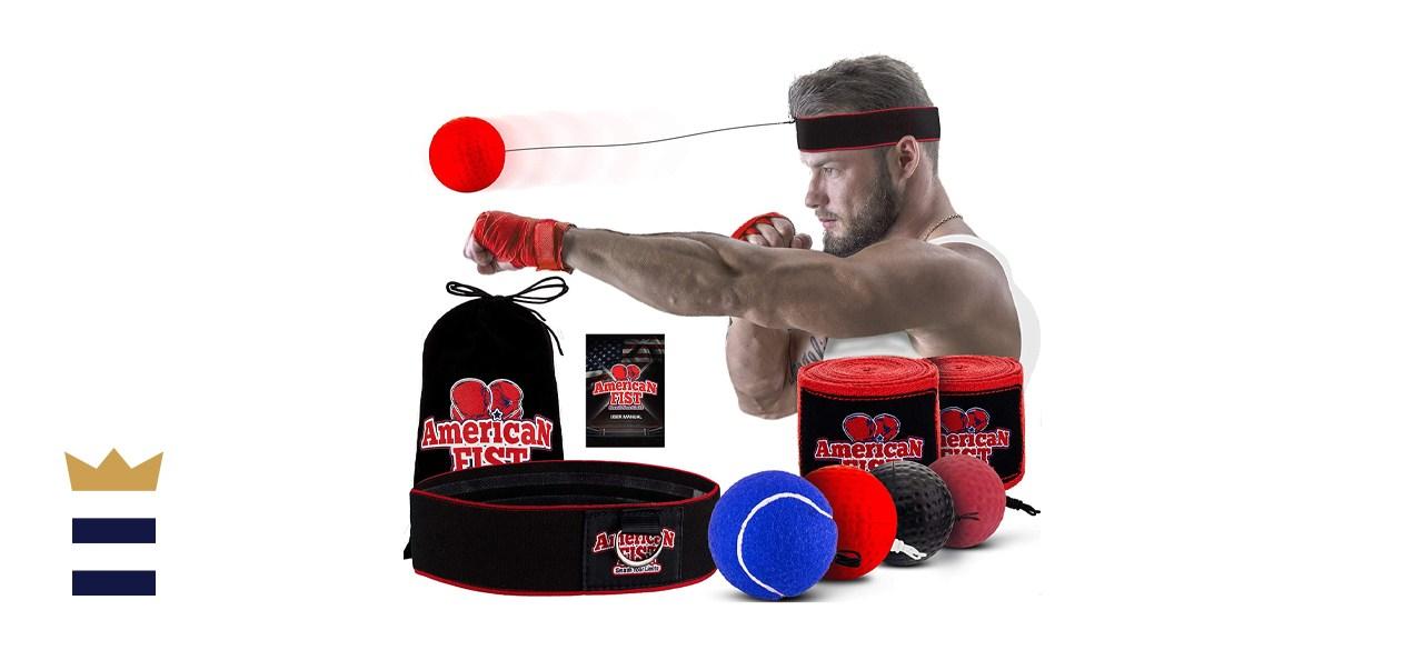 American Fist Boxing Reflex Ball Set