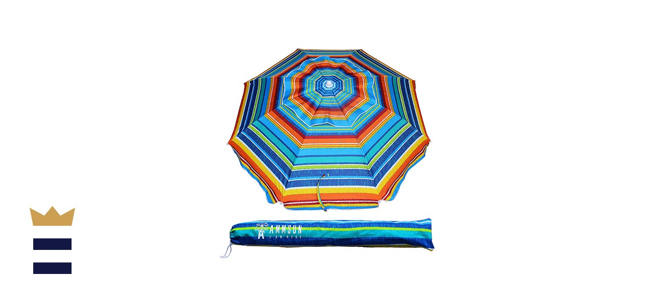 AMMSUN Outdoor Beach Umbrella Sun Shelter