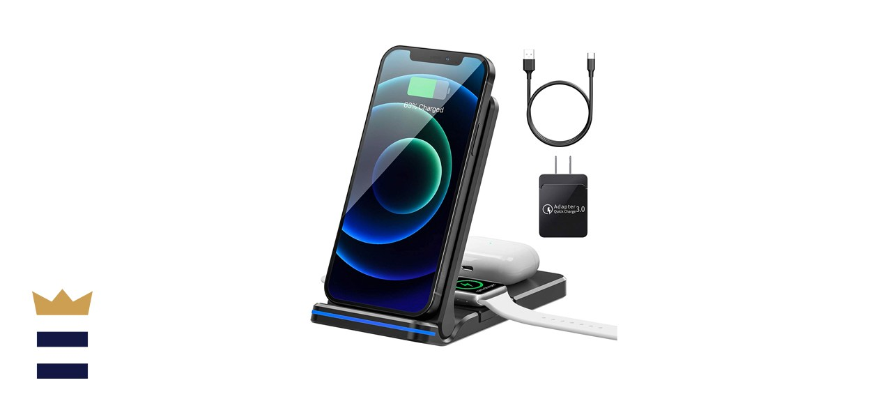 AMZLIFE 3-in-1 Wireless Charging Station