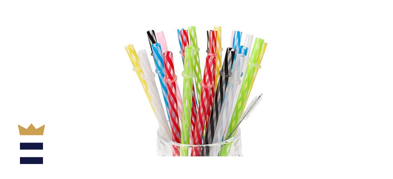 Amzsockets Reusable Plastic Straws