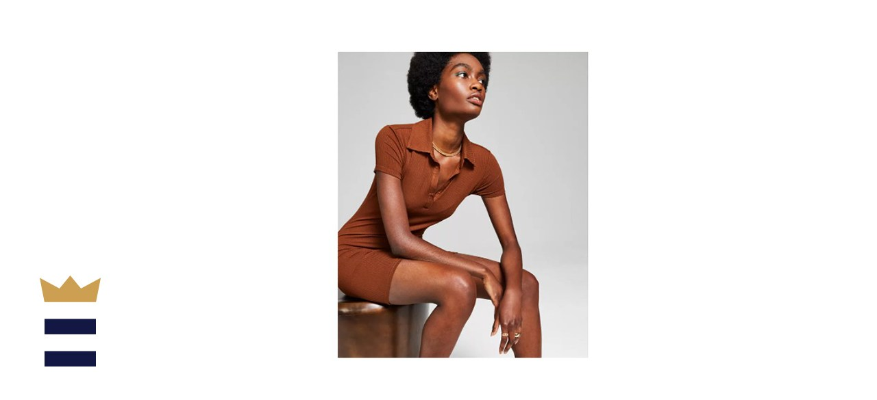 And Now This Womens Ribbed Bodycon Dress
