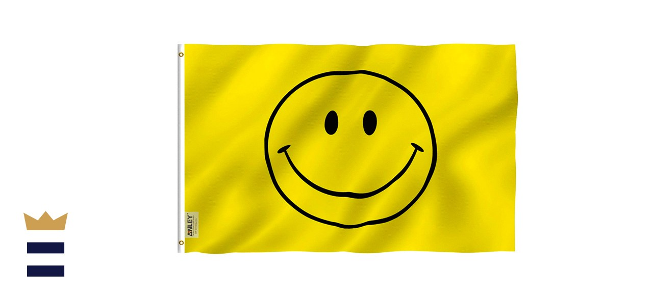 Anley Fly Breeze Yellow Smiley Face Flag