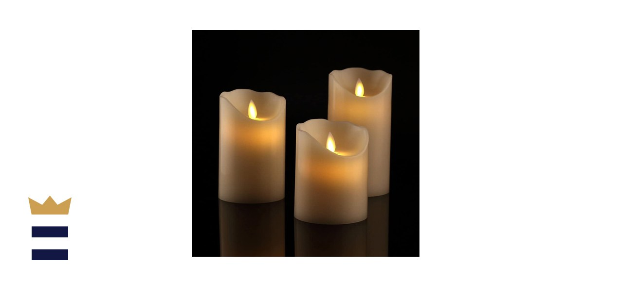Antizer Flameless Candles, Set of 3