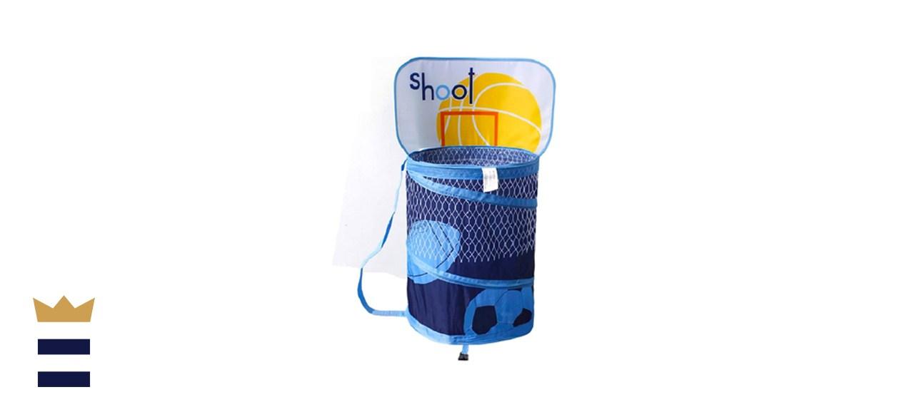 Ao blare Basketball Hoop Toy Bucket Laundry Basket