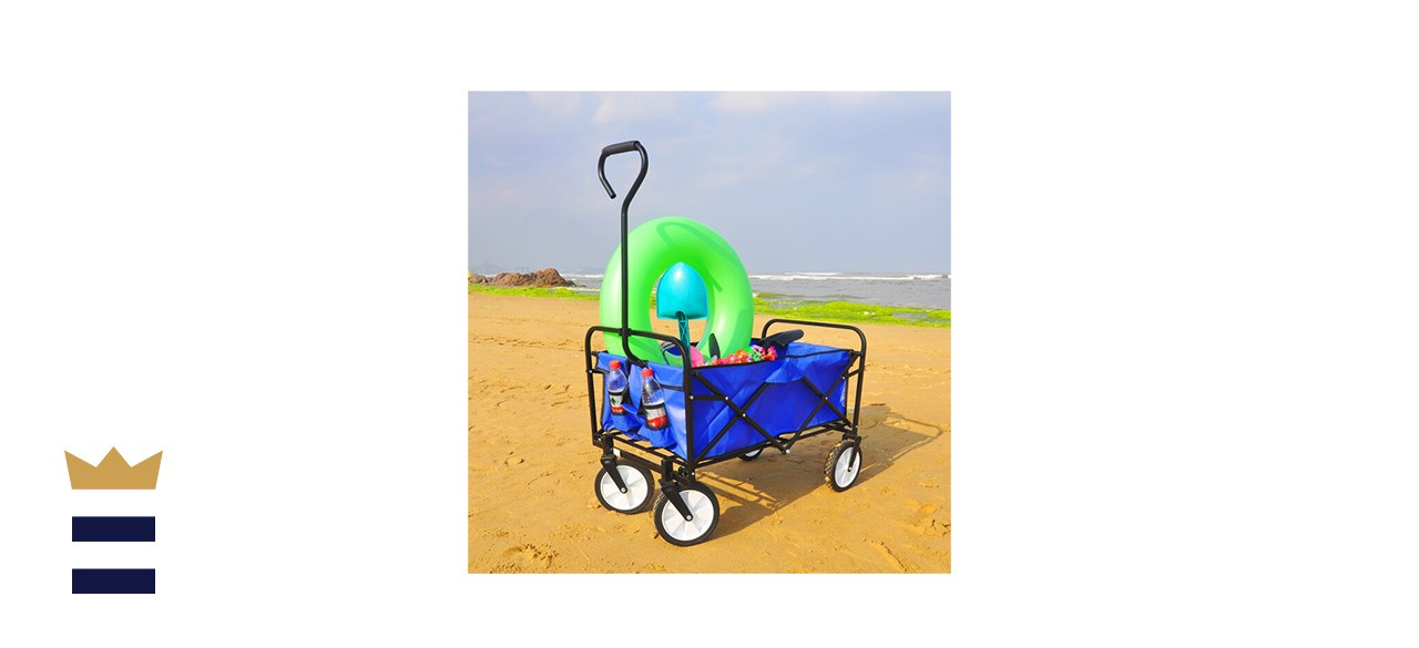 AOOLIVE Folding Beach Cart
